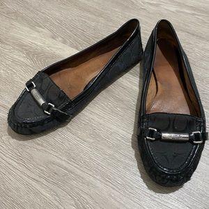 Coach black dress loafers size 10